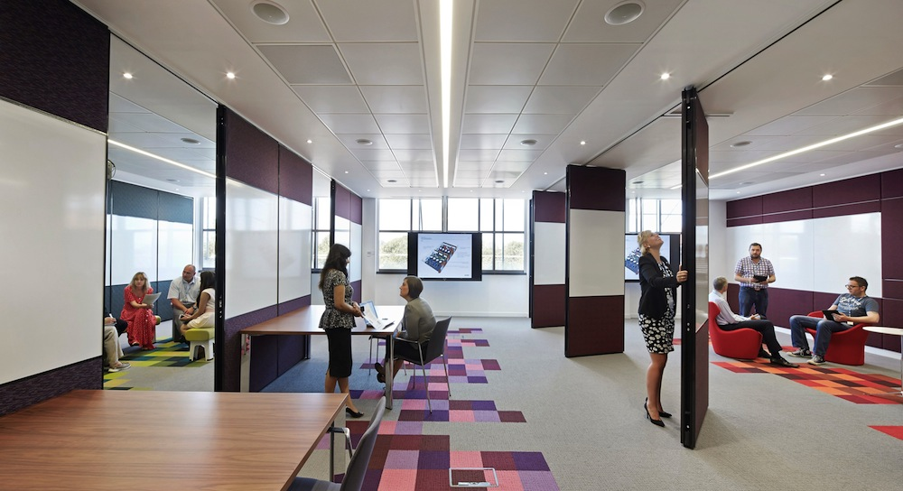 Productivity how workplace design can make a difference for Interior design room grid