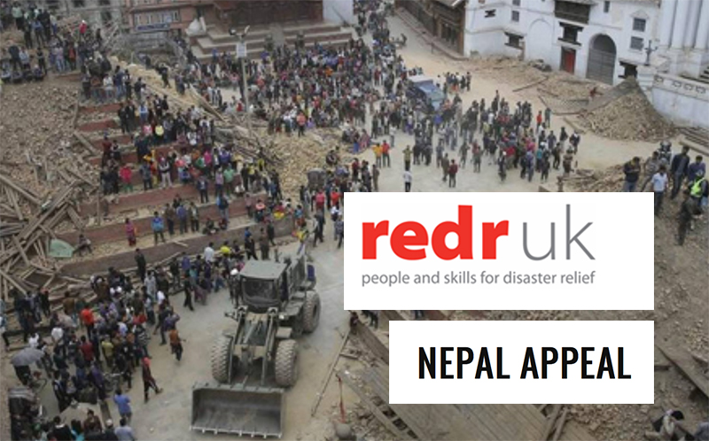 nepal earthquakes disaster relief support a big thanks from redr