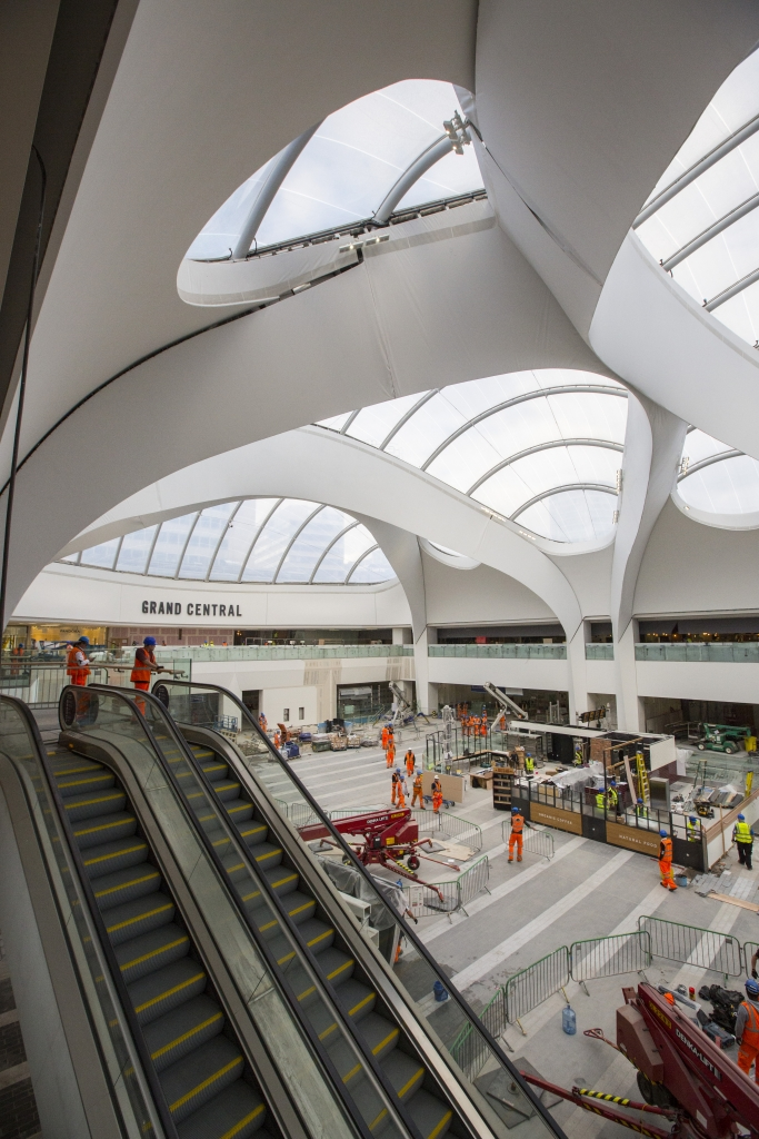 Final days of work on the BNS passenger concourse