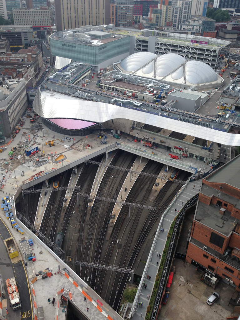 Birmingham New Street from the top of the Rotunda