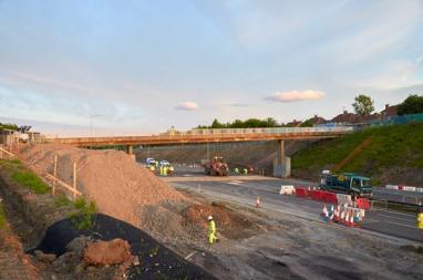The A1 Coal House to Metro Centre Improvement scheme near Gateshead.