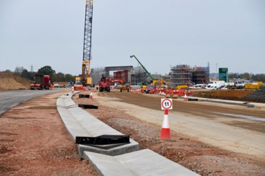 A14 ground progress. Photo: Highways England.