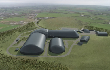 Aerian CGI of the new Woodhouse Colliery mine site.