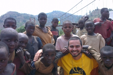 Kayin Dawoodi on a Bridges for Prosperity project in Rwanda