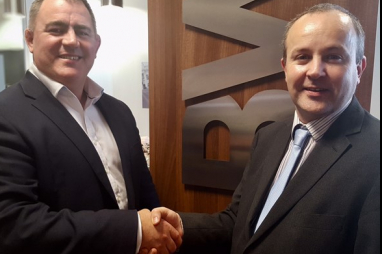 Andy Passmore, left, BWB's main board director for transport & infrastructure, with Jonathan Wright, the former Network Rail design lead who will head BWB's new Rail Design Group.