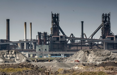 British Steel's Scunthorpe works.