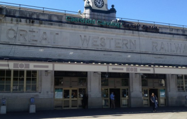 Cardiff Central station.