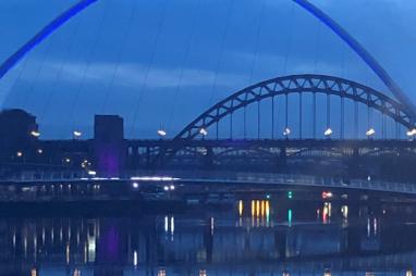 Newcastle's bridges at night. PHOTO: zelie@catalyze.biz