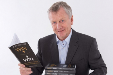 "Derek Arden, pictured with his best-selling book, ""Win-Win - How to get a winning result from persuasive negotiations""."