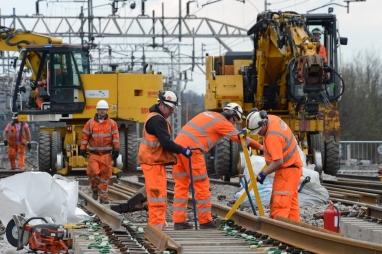 Network Rail Easter works - Orphanage road bridge, Watford