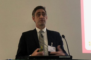 Mark Enzer, chair of the Centre for Digital Built Britain's Digital Framework Task Group, speaking at ACE's Digital Leadership Conference on 20 June 2019.