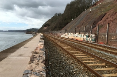 The coastal route for the South Devon Railway has been vulnerable to storm events for many years.