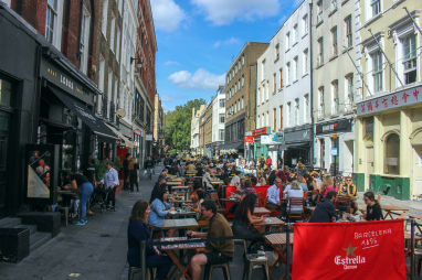 Frith Street in London in September 2020.
