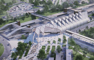 HS2's eco-friendly Interchange station at Solihull in the west Midlands has gained planning approval from Solihull council.