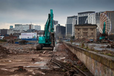 HS2 - breaking new ground at Curzon Street site in Birmingham.