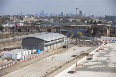 HS2's London logistics hub, at Willesden.