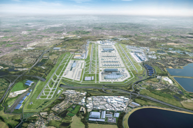 Artist impression of proposed expansion of Heathrow Airport up to 2050.