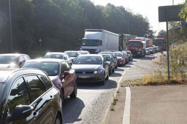 Congestion on the A358 in Somerset.