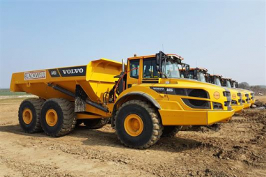 An automated dump truck, already in use by Highways England.