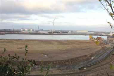 Northfleet Embankment, where 598 homes are set to be built.