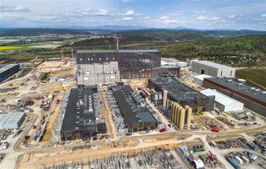 Aerial view of the ITER site in France. (Image courtesy of ITER Organisation-EJF Riche).