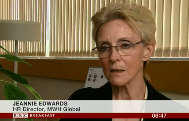 MWH's Jeannie Edwards speaking on BBC Breakfast.