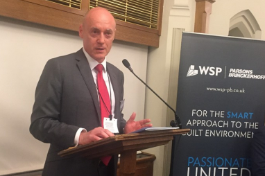 Ian Liddell, MD for planning & advisory at WSP | Parsons Brinckerhoff, launchiing the report at the Houses of Parliament.