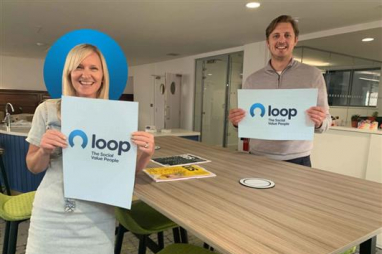l-r, Harriet Parker, operations manager and Tom Farley, CEO, of newly rebranded social value specialists Loop.