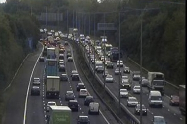 M60 traffic jam
