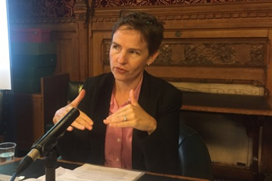Mary Creagh MP, chair of the Environmental Audit Committee, speaking at the EIC Political Summit.