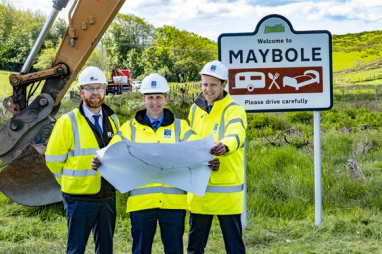 Work begins on new Maybole bypass.