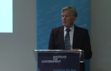 Sir Amyas Morse speaking at the Institute for Government