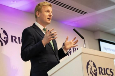 Oliver Dowden MP, addressing the RICS annual construction conference.
