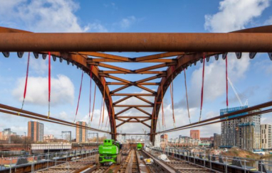 The Ordsall Chord rail project in Manchester.