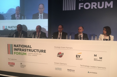 City leaders in London at the National Infrastructure Forum.