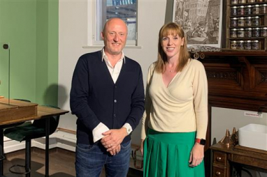 Pagabo executive chairman Gerard Toplass and Labour deputy leader Angela Rayner embrace a positive approach to flexible working.