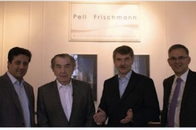 Tushar Prabhu, Dr Wilem Frischmann, Jurgen Wild and Richard Barrett - the new team at Pell Frischmann