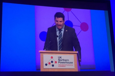 Minister for the Northern Powerhouse Andrew Percy speaking in Manchester this week.