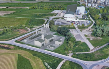 Plastic to hydrogen at Protos. CGI of proposed new power facility.