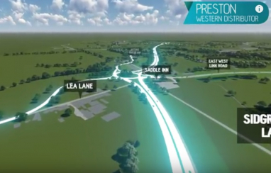 The Preston Western Distributor scheme, which has been given the go-ahead for construction.