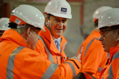 "David Cameron at Crossrail - infrastructure ""foundation"" for economy"