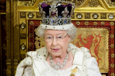 Queen Elizabeth II gives the speech written by the Conservative government
