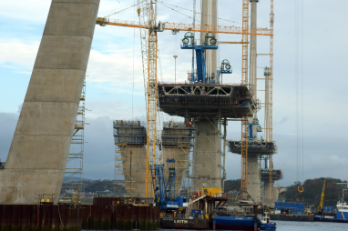 The Queensferry Crossing photographed in November 2015.
