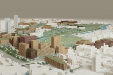 Artist impression of £800m Salford masterplan