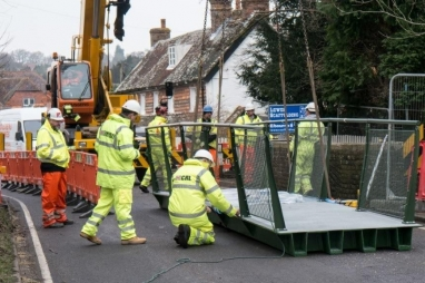 One tonne FRP composite bridge replaces 4t structure at Sedlescombe.