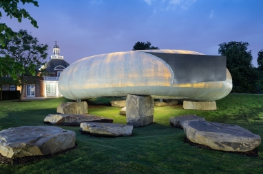 A fragile shell suspended on quarry rocks - this year's Serpentine Pavilion