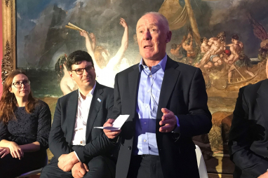 Manchester City Council leader Sir Richard Leese, speaking at the Atkins Building Back Greener event on 12 October 2021.