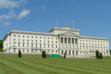 The Stormont parliamentary building in Belfast, Northern Ireland.