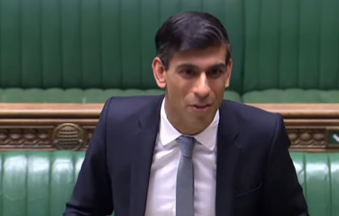 Chancellor Rishi Sunak announcing the extension of the furlough scheme until October in parliament on 12 May 2020.