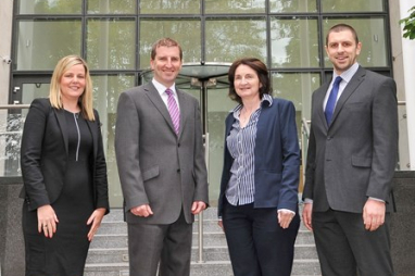 Sweco Cork office staff (left to right) Tara O'Leary, John Nolan, Mary Creedon and Seamas O'Reilly.